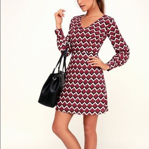 Lulu's Sweet as Pie Long Sleeve Dress - Small